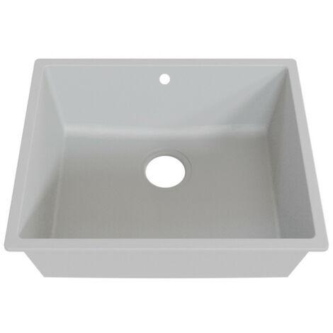 Cuve RESIROC - évier 1 bac sans égouttoir - 54 x 44 cm - Gris