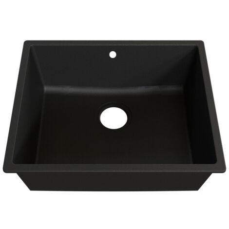 Cuve RESIROC - évier 1 bac sans égouttoir - 54 x 44 cm - Noire