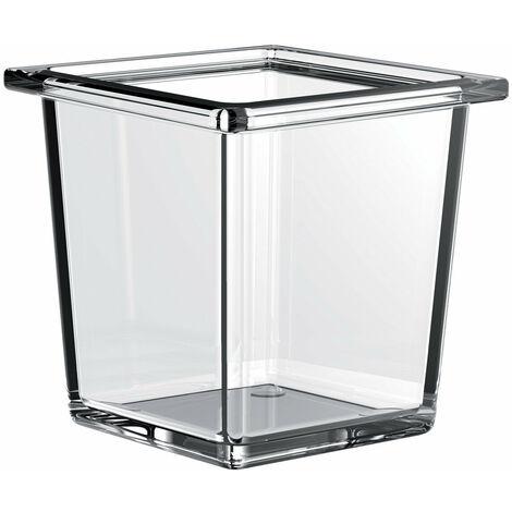 Cuvette carrée en verre de liaison Emco pour garde-corps, verre cristal clair, profond - 186600002