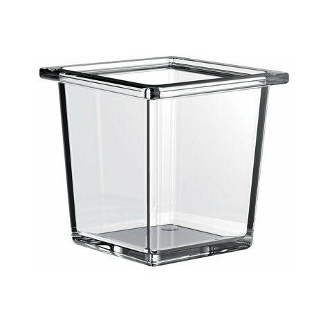 """main image of """"Cuvette carrée en verre de liaison Emco pour garde-corps, verre cristal clair, profond - 186600002"""""""