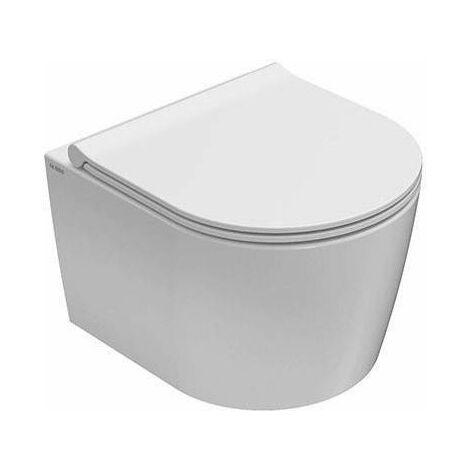 Cuvette de toilette 43 cm + housse de siège à fermeture amortie Globo Forty FOS06+FOR22 | Blanc - Globo BI