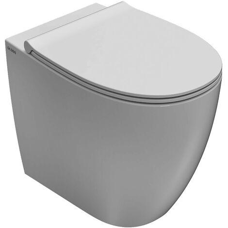 Cuvette de toilette en céramique dos au mur pour installation dos au mur 54.36 Globo 4ALL MD005BI | Blanc - Globo BI