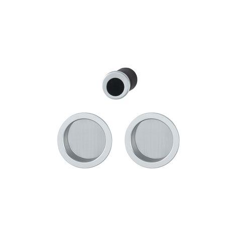 /300/mm Securit Tableau noir Plaque de doigt en aluminium satin/é/