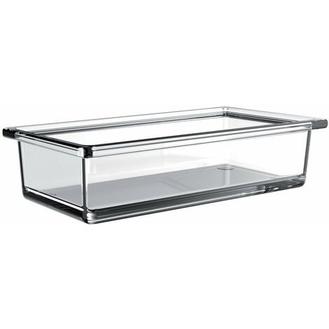 Cuvette en verre de liaison Emco rectangulaire pour garde-corps, verre cristal clair, plat, long - 186600001