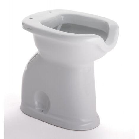 Cuvette wc à poser au ras du mur pour handicapés 38x50 cm en céramique blanche