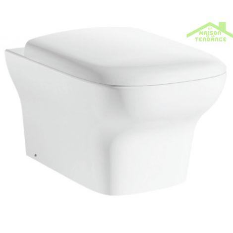 Cuvette WC à poser GRACE avec abattant à frein de chute
