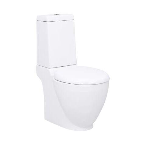 Cuvette WC carre blanche en ceramique Design special