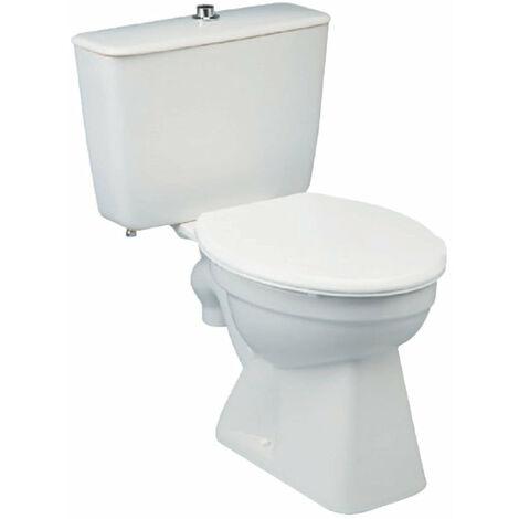 Cuvette WC seule sur pied seule sortie centrale action siphonique incorporee ASPIRAMBO Blanc, PORCHER, ref. P231001