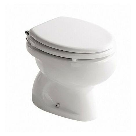 Cuvette wc sur le sol en céramique blanche brillante Galassia de la série Infanzia