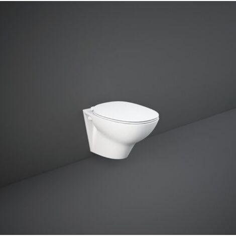 Cuvette wc suspendu en céramique bride 36,5x52 cm Série Glasgow | Blanc brillant - Standard