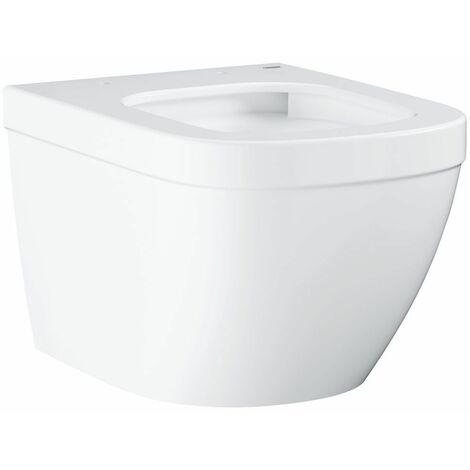 Cuvette WC suspendue à fond creux 374 x 490 mm blanc alpin Euro Ceramic