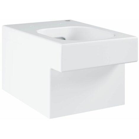 Cuvette WC suspendue à fond creux PureGuard blanc alpin Cube Ceramic
