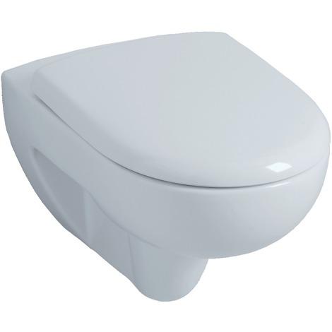 Cuvette WC suspendue Allia Prima avec abattant 54cm blanc