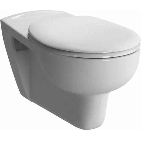 Cuvette WC suspendue allongee ALTERNA Mobilita 70 cm en ceramique blanc sans abattant