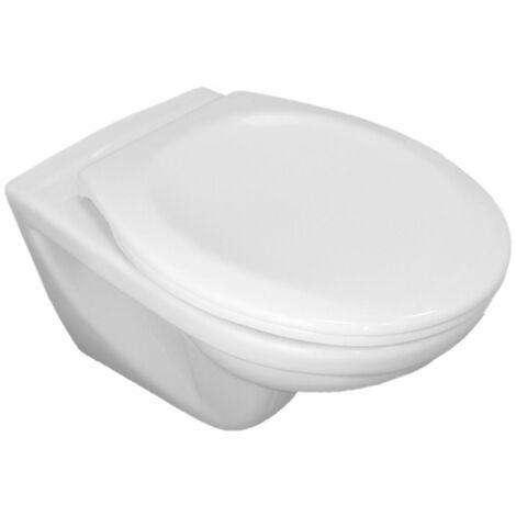 Cuvette WC suspendue Ancoflash - sans bride - abattant frein de chute