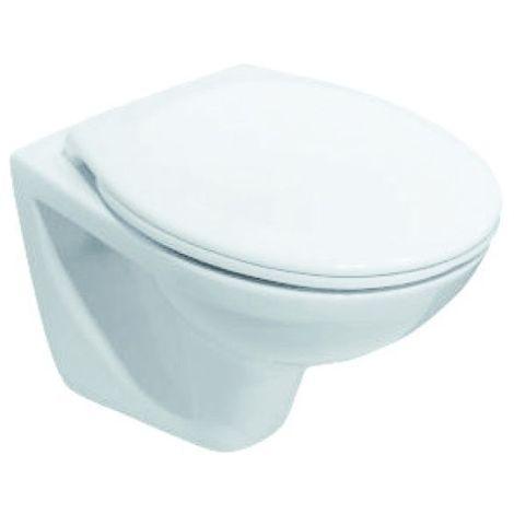 Cuvette WC suspendue N-F 49cm ROCA POLO compacte - Blanche