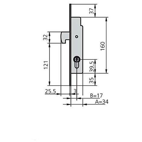 CVL - Cerradura Embutir Met Hn Cvl 17 Mm
