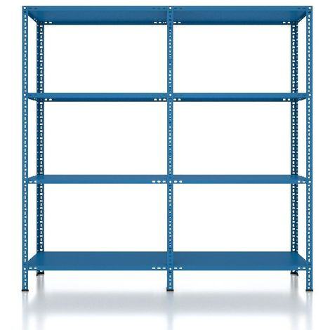 CVT Rack - with 3 Shelves, Tiers - Blue made of Metal, Plastic, 33 x 18 x 10 cm, 184 x 31 x 180 cm