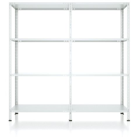 CVT Rack - with 3 Shelves, Tiers - Grey made of Metal, Plastic, 15 x 22 x 24 cm, 184 x 41 x 180 cm