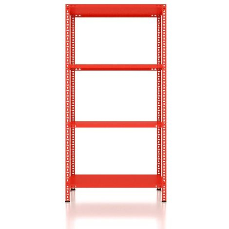 CVT Rack - with 3 Shelves, Tiers - Red made of Metal, Plastic, 13 x 14 x 25 cm, 92 x 31 x 180 cm