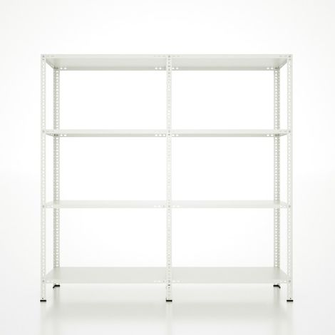 CVT Rack - with 3 Shelves, Tiers - White made of Metal, Plastic, 16 x 15 x 24 cm, 184 x 31 x 180 cm