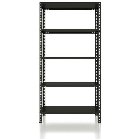 CVT Rack - with 4 Shelves, Tiers - Black made of Metal, Plastic, 13 x 17 x 25 cm, 92 x 31 x 180 cm