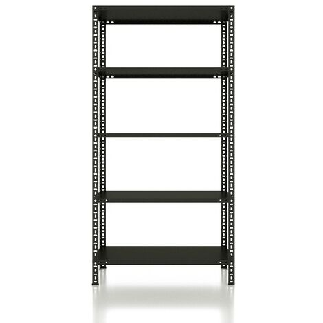CVT Rack - with 4 Shelves, Tiers - Black made of Metal, Plastic, 17 x 26 x 30 cm, 92 x 41 x 180 cm