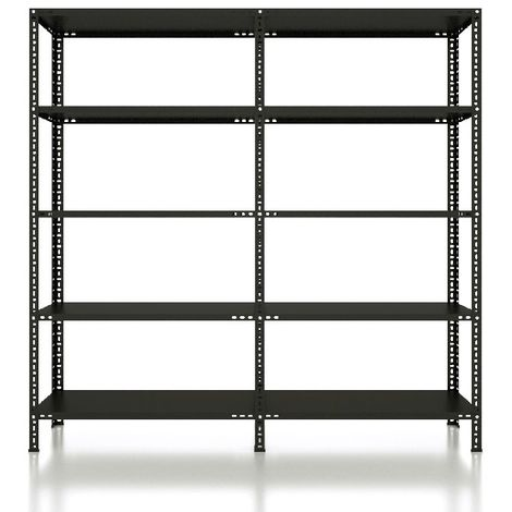 CVT Rack - with 4 Shelves, Tiers - Black made of Metal, Plastic, 53 x 53 x 27 cm, 184 x 31 x 180 cm