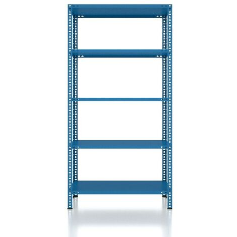CVT Rack - with 4 Shelves, Tiers - Blue made of Metal, Plastic, 14 x 20 x 23 cm, 92 x 41 x 180 cm