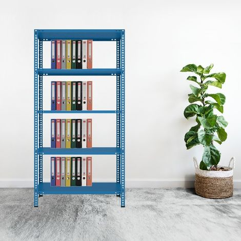 CVT Rack - with 4 Shelves, Tiers - Blue made of Metal, Plastic, 14 x 20 x 23 cm, 92 x 41 x 180 cm