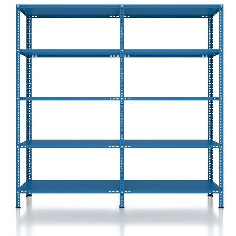 CVT Rack - with 4 Shelves, Tiers - Blue made of Metal, Plastic, 18 x 26 x 36 cm, 184 x 41 x 180 cm