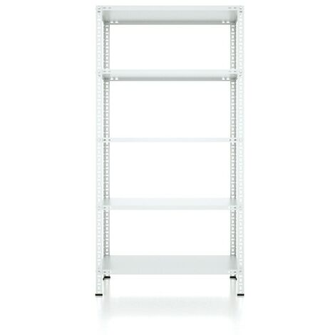 CVT Rack - with 4 Shelves, Tiers - Grey made of Metal, Plastic, 10 x 20 x 40 cm, 92 x 41 x 180 cm