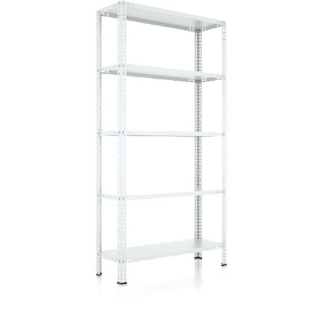 CVT Rack - with 4 Shelves, Tiers - Grey made of Metal, Plastic, 10 x 20 x 40 cm, 92 x 41 x 180 cm