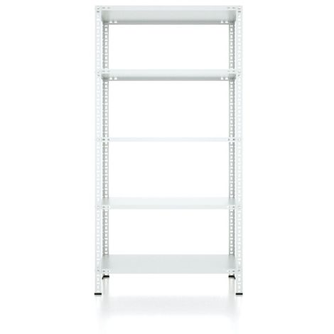 CVT Rack - with 4 Shelves, Tiers - Grey made of Metal, Plastic, 17 x 24 x 30 cm, 92 x 31 x 180 cm