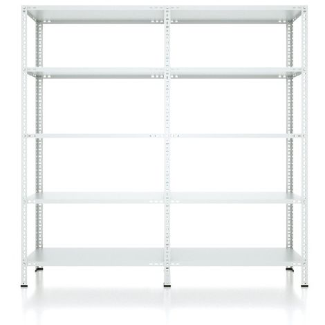 CVT Rack - with 4 Shelves, Tiers - Grey made of Metal, Plastic, 9 x 16 x 26 cm, 184 x 31 x 180 cm