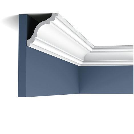 CX123F Flexible Corniche plafond Orac Decor - 8x8x200cm (h x p x L) - moulure décorative polymère - rigide ou flexible : flexible - conditionnement : A l'unité