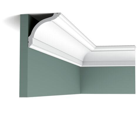 CX127F Flexible Corniche plafond Orac Decor - 9,5x9,5x200cm (h x p x L) - moulure décorative polymère - rigide ou flexible : flexible - conditionnement : A l'unité