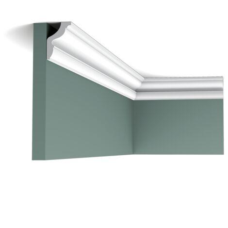 CX148 Corniche plafond Orac Decor Axxent - 4,5x3x200cm (h x p x L) - moulure décorative - rigideouflexible : rigide - conditionnement : A l'unité