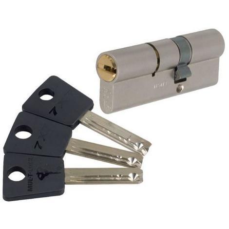 Cylindre 2 entrées 7 x 7Varié Nickelé Mul-T-Lock