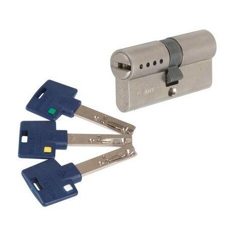 Cylindre 2 entrées INTERACTIVE + Varié Nickelé Mul-T-Lock