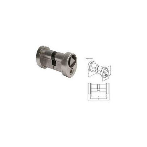 Cylindre 30x30mm avec triangle de pompier 14mm affleurant LOCINOX - 3012POCT14.