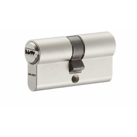 Cylindre 7101 CY110 VACHETTE + 3 clés variés - Nickel satiné DIN 18252 - 40 x 40 mm - CY110KDED4040SND0