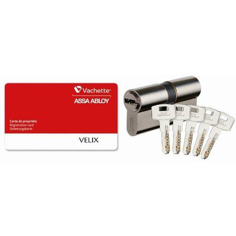 Cylindre 7101 Velix 30x70 VACHETTE 5 clés réversible varié nickelé - 28178000