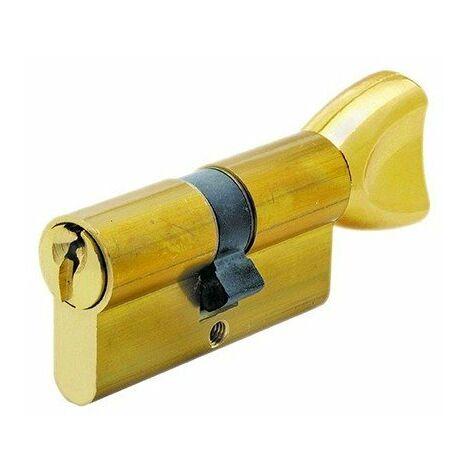 Cylindre - A bouton - 30x30 - Clé crantée - Laiton