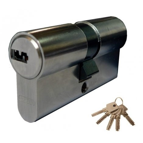 CYLINDRE A CLE REVERSIBLE D6 NICKELÉ ABUS