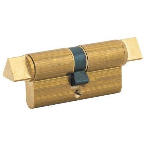 Cylindre à fonction Pompier 30 x 30 - double à triangle et clé de 14 mm