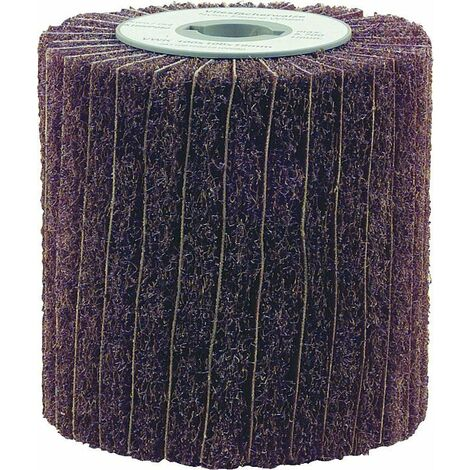 Cylindre a poncer toisonne av toile abrasive 19 mm double rainure 100x100x19 mm Grain A 180/150