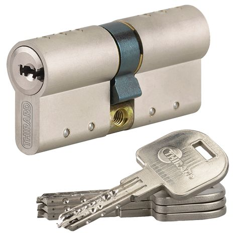 Cylindre Atlantic THIRARD - profil européen - 3 clés - 33x53 mm - 030789