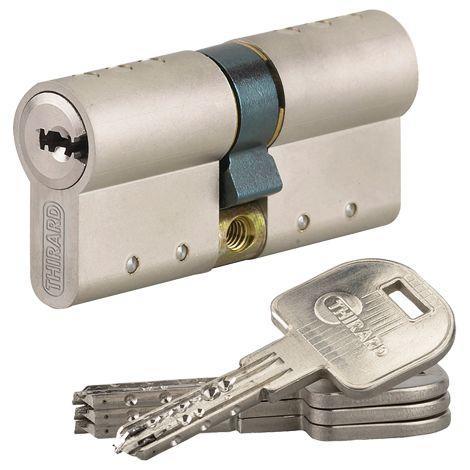 Cylindre Atlantic THIRARD - profil européen - 3 clés - à bouton - 33x33 mm - 030758