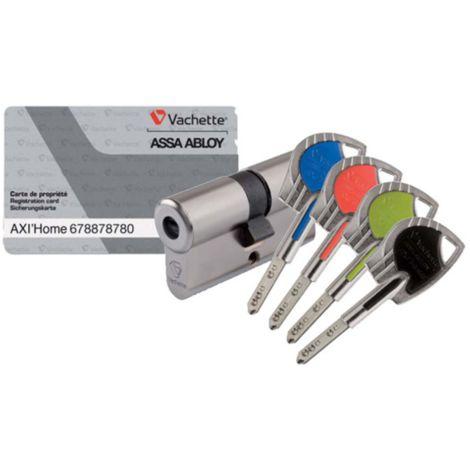 Cylindre Axihome A2P1* nickelé 30x30 mm 7101 VACHETTE avec obturateur + 4 Clés couleurs - 17655000